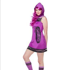 Other - Purple Crayola Crayon costume adult XL